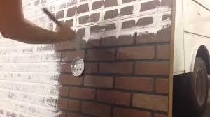 How To Whitewash Brick Whitewashing Faux Brick Youtube