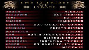 Israelite Chart Israelites Tried Refuted 12 Tribe Chart Criticism