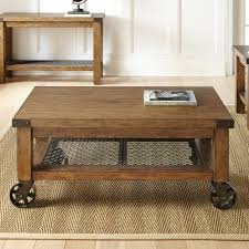 dark rustic coffee table with iron wheels coffee tables industrial table wheels diy rustic metal on