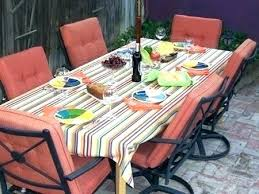 patio table cover with umbrella hole zipper round outdoor tablecloth great w round tablecloth with umbrella