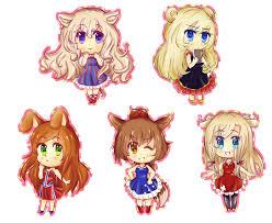 cute anime chibi characters animals. Chibi Animals By Grauver Intended Cute Anime Characters