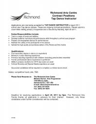 Letter Of Recommendation For Dance Student Best Resume Gallery
