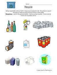 Reduce Reuse Recycle Worksheet | Have Fun Teaching
