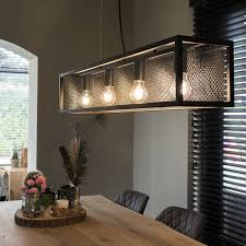 industrial hanging lamp black with mesh