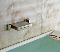 wall mounted waterfall faucets waterfall faucet oshi wall mounted waterfall bath tap with handheld shower head