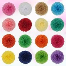 Diy Flower Balls Tissue Paper Ajp 1piece Pompon Tissue Paper Pom Poms Flower Balls For