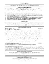 Ob Nurse Resume Sample Nurse Resume Sample Nursing Resume Free