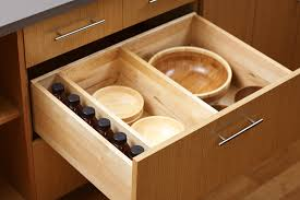 kitchen drawers with adjule partitions to divide a drawer or roll out shelf from dura supreme