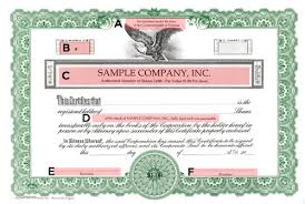 Stock Certificats Short Form Green Stock Certificate Short Form Online