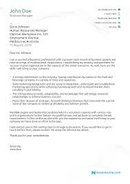 Sample Technical Cover Letters Resumes Cover Letters Examples Sales Cover Letter Example