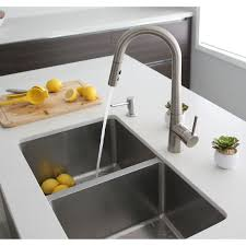 Shop 31l X 18w Double Basin Undermount Kitchen Sink With Strainers