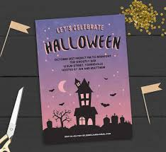 Free Halloween Birthday Invitation Templates Halloween Themed Birthday Invitations Free Party Printable