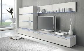 liren 1 white media wall unit