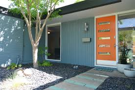 Impressive Modern Front Door Orange Mid Century Exterior Doors Midcentury With Blue To Innovation Design