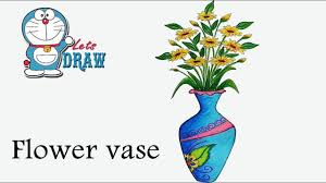 How To Draw A Vase With Designs How To Draw Flower Vase Step By Step Very Easy