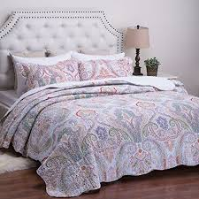 King Size Quilts Clearance: Amazon.com & Printed Quilt Coverlet Set King(106