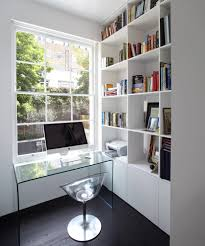contemporary home office ideas. Office, Inspiration For A Small Contemporary Home Office Remodel In London With White Walls Dark Ideas 5