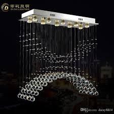 new flush mount rectangle chandelier crystal lamp led luminare re de cristal lampe dinning room lights multi coloured chandelier seashell chandelier