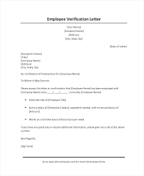 Sample Income Verification Letter From Employer Employment And