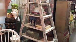 diy 30 rustic wood ladder shelf project great project for all skill levels