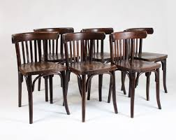 bentwood bistro chair. Bentwood Bistro Chairs Set Of Six 1950s Ton Thonet At 1stdibs Chair