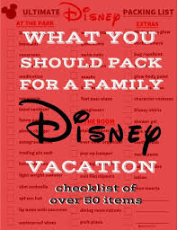50 Items Ultimate Free Disney Packing List Pinkwhen