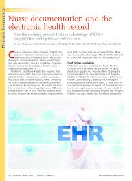 Pdf American Nurse Today Article Magnet Ehr 815a Janet