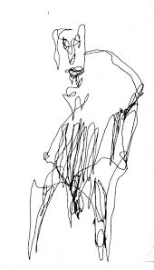 fence drawing. Man With Fence-like Stomach, Pen Drawing In The Dark, By William Eaton. \u2039 Fence F