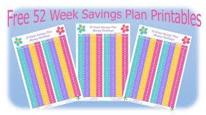 Weekly Saving Plan Chart 52 Week Saving Plan Money Challenge Free Printable Hip