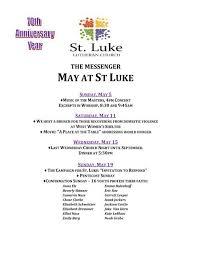 sunday, may 19 - St. Luke Lutheran Church