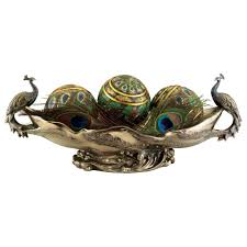 Decorative Bowl With Orbs Decorating Charming Decorative Orbs With Peacock Ornament For 21