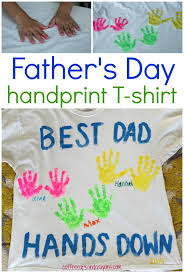 diy father s day handprint shirt easy to make