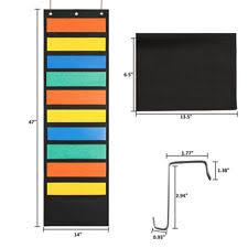 magazine racks for office. Wall File Organizer 10 Storage Pocket Classroom Office Folder Hanging Holder AU Magazine Racks For