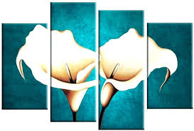 large teal wall art lily cream canvas pictures flower painting split multi lilly te on extra large wall art teal with wall arts large teal wall art lily cream canvas pictures flower