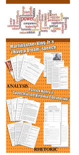 best rhetoric images teaching writing ap 75 page unit on martin luther king jr s i have a dream and partick henry s speech in the virginia convention included are worksheets on vocabulary
