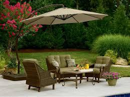 Patio sears patio umbrellas brown octagon modern fabric sears
