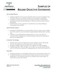 General Objective Resume Examples Objectives In Resumes Resume