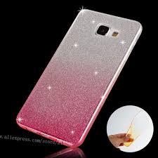 For Samsung A5 (6) Case Soft Gradient Clear TPU for SAMSUNG Galaxy 2016 A510 Cover SLIM Silicon Glitter Powder Phone Bag