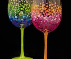 paint nite colorful circles wine glasses sault throughout colorful wine glasses prepare