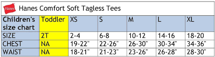 Hanes Boxers Size Chart Hanes Comfortsoft T Shirts Size Chart Hanes Heavyweight