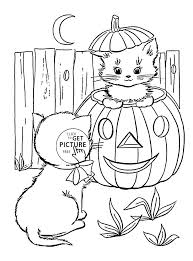 Halloween Coloring Pages Cute Cats Coloring Pages Cute Cats Coloring