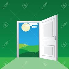 Decorating front door clipart pictures : Open Front Door Clipart - ClipartXtras