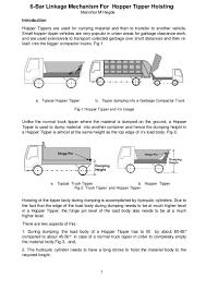 Hydraulic Cylinder Linkage Design 6 Bar Linkage Mechanism For Hopper Tipper Hoisting