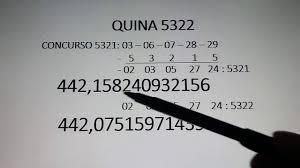 JOGO#DA#QUINA QUINA 5322 - YouTube