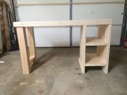 wood computer desk plans