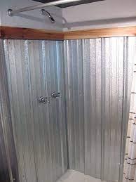 galvanized shower shower surround