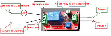 12v delay timer relay ne555 adjustable delay switch 1 to 20 second below is the reference wiring diagram