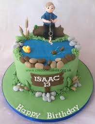 Boys Fishing Themed Birthday Cake Ideas Para Una Fiesta Fish