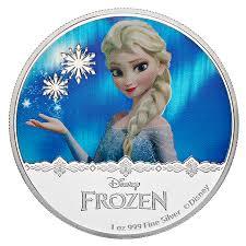 Snow queen Elsa coin from Disney Frozen: Pure Silver Coloured ...