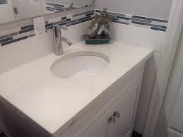 simple white bathrooms. Simple White Bathroom Concrete Counter Top Bathrooms